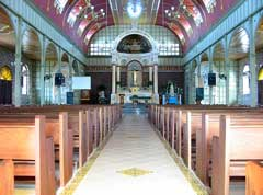 Inside the Culion katholic church